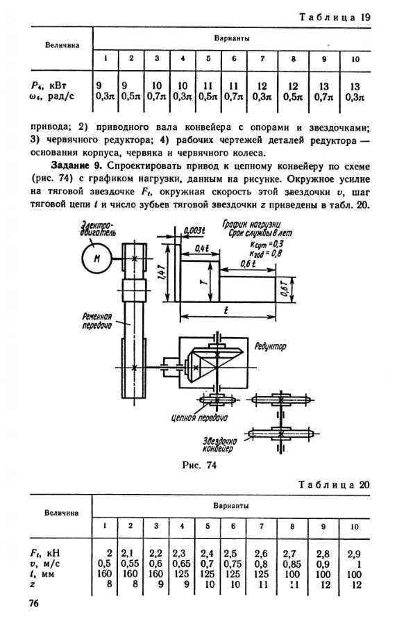 Спроектировать привод к конвейеру от двери до двери транспортер